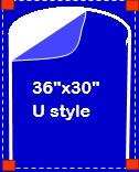 """36"""" x 30"""" U-Style Zipper Door"""