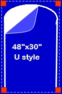 """48"""" x 30"""" U-Style Zipper Door"""
